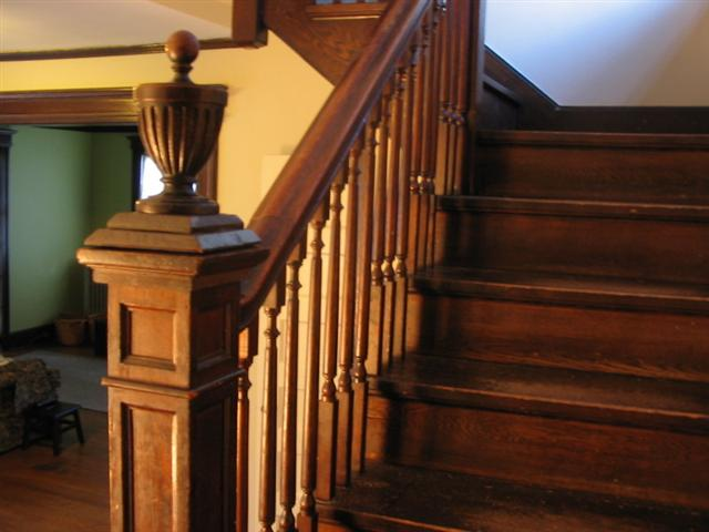 Railing built by Fine Custom Carpentry